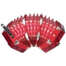 Гармоники концертино типа «гармошка» 20-кнопка 40-Рид англо Стиль с сумкой для переноски и регулируемый ремешок на руку