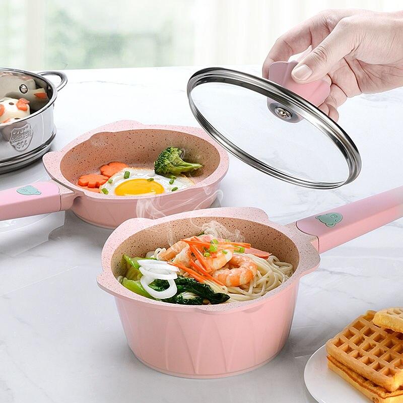 Milk Pot Baby Food Supplement Pot Baby Maifan Stone Small Milk Pot Soup Pot Omelette Pot Children Non-stick Wok Kitchen Cookware
