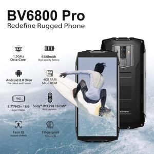 """Image 2 - Blackview BV6800 Pro 4GB + 64GB 5.7 """"étanche Smartphone 18:9 écran 6580mAh Android 8.0 sans fil charge téléphone portable"""