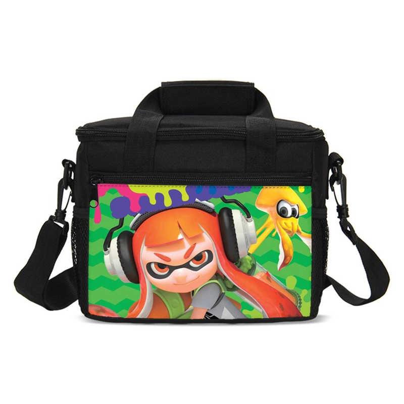 Niestandardowe torba na Lunch biuro szkolne torba termoizolacyjna torby dodać swoje Logo zdjęcie gry gwiazda Cartoon drukuje projekt Unisex przenośne