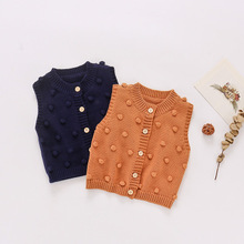 Baby Cardigan Vest Autumn Coats Boys 1PC Outerwear Ball Handmade Toddler Infant Fashion