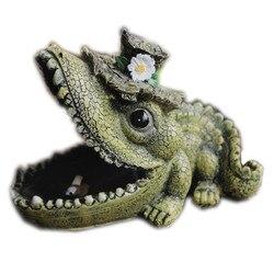 Retro kreatywny śliczne żółw krokodyl popielniczka parodia śmieszne osobowości ozdoby KTV popielniczka  aby wysłać chłopaka prezenty M2244|Posągi i rzeźby|Dom i ogród -