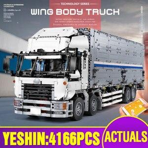 Image 1 - 23008 jouets de voiture technique compatibles avec MOC 1389 APP moteur aile corps camion blocs de construction brique voiture modèle enfants cadeau de noël
