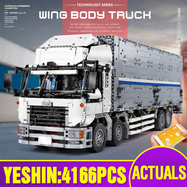 23008 jouets de voiture technique compatibles avec MOC 1389 APP moteur aile corps camion blocs de construction brique voiture modèle enfants cadeau de noël