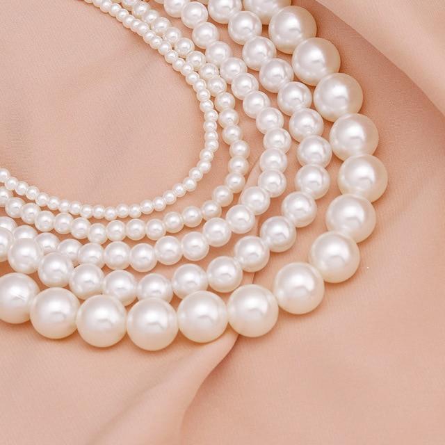 elegant pearl charm necklace 2