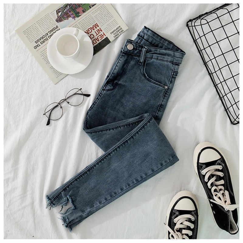 Jujuland 2019 Jeans Mujer Pantalones Vaqueros Color Negro Mujer Pantalones Vaqueros Elasticos Femeninos Pantalones Ajustados Para Mujer 8113 Pantalones Vaqueros Aliexpress