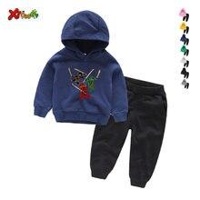 Комплекты детской одежды для маленьких мальчиков и девочек модная