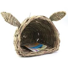 Hut BUNNY House-Folding From-Wire-Cages Sleeping-Protect Woven Grass for Laying