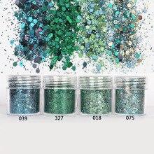Juego Verde hexágono brillantina mezcla en adorno de tema navideño para manualidades de resina herramientas de joyería festivas pigmento de resina Uv