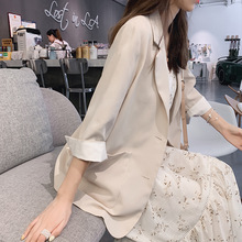 Mishow 2019 Women Long Sleeve Solid Color Turn-down Collar Coat New Korean Ladies Cardigan Jacket
