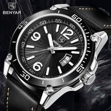 BENYAR Quartz Watch Men Fashion Sport Mens Watches Top Brand Luxury Waterproof Wristwatch Clock Relogio Masculino 2020