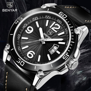 BENYAR Quartz Watch Men Fashion Sport Mens Watches Top Brand Luxury Waterproof Wristwatch Mens Clock Men Relogio Masculino 2020 benyar men watch top brand luxury quartz watch mens sport fashion blue analog leather male wristwatch waterproof clock