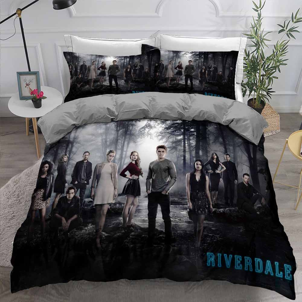 Bizarre Movies Bedding Sets Riverdale Comforter Cover Pillowcase Single Double Full Queen King Size Bedroom Decor Bed Linen Set