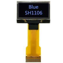 IPS 1,3 zoll Blau OLED display bildschirm SH1106 controller 30 pin stecker in typ FPC stecker 12864 hohe licht SPI i2C IIC Parallel(China)