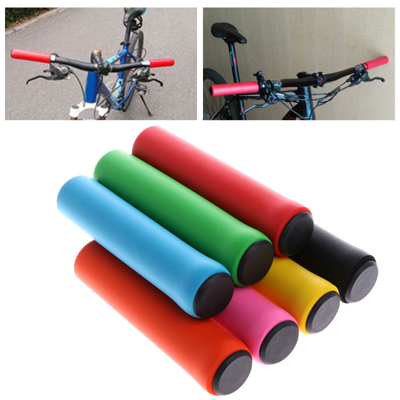 Colourful Bike Handlebar Grips Anti-slip Silicone Cycling Handle Bar Grip Soft Ultralight Mountain Shock-absorbing Bike Part