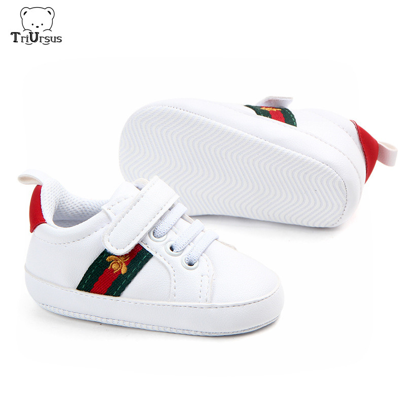 Pre Walker Baby Shoes 2019 New Designer Toddler Infant Winter Shoes Red Heart Breathable Zapatos Bebe Baby Walking 0-18 Months