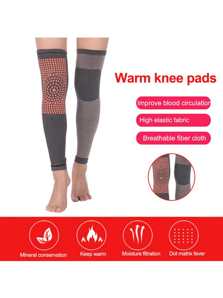 2PCS Unisex Self Heating Support Knee Pads Lengthened Warm Heated Knee Brace For Arthritis Joint Pain Relief And Injury Recovery