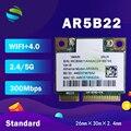 Беспроводная карта Atheros AzureWave AR9462 AR5B22 WB222, мини PCIe 300 Мбит/с + Bluetooth 4,0 WLAN Wifi