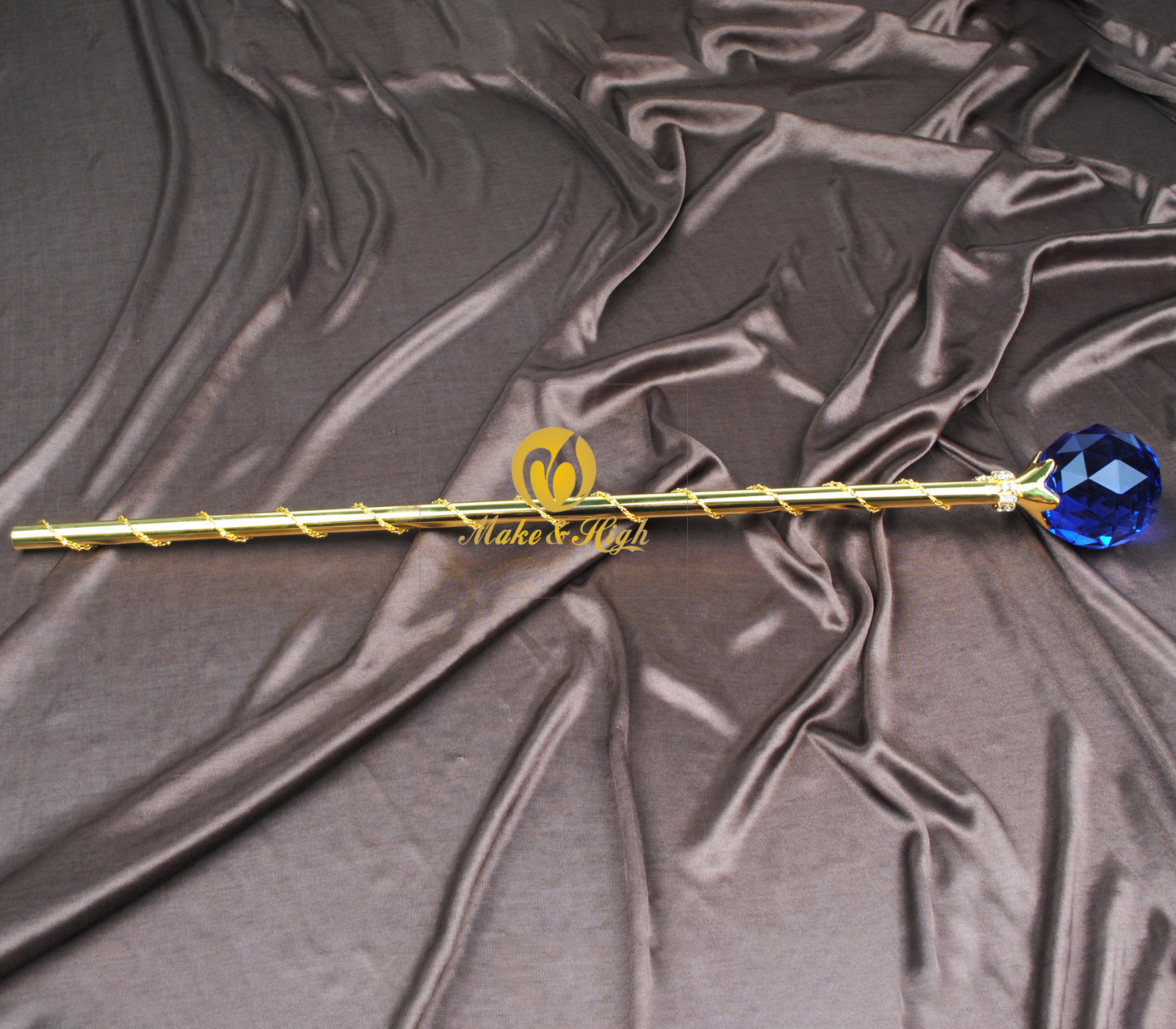 Gold Round Ball Scepters Handmade Crystal Sceptre Wand Wedding Party Accessories