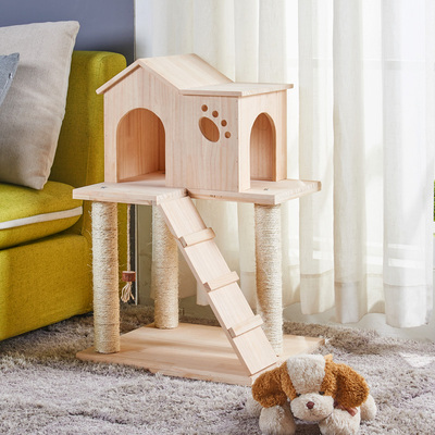 M8 Cat Litter Teddy Dog House Small Pet House Outdoor Indoor Solid