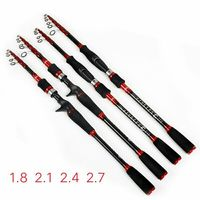 Extendable Lure Rod 1.8m/2.1m/2.4m/2.7M/3.0m Carp Telescopic Fishing Rod Carbon Spinning Fishing Rod Sections Lure Fishing Rod|Fishing Rods| |  -