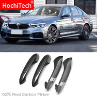 High Quality for BMW 5 series G30 G38 M 2018 2020 Car Accessories Carbon Fiber Auto Door Handle Knob Exterior Trim Covers