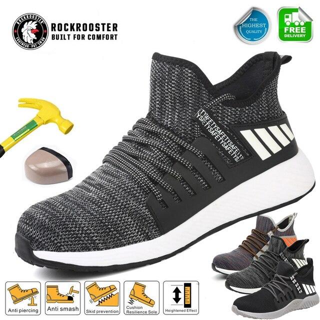 خفيفة الوزن الصلب تو أحذية العمل السلامة مع غطاء صلب لأصبع القدم الرجال غير قابل للتدمير الخالد رايدر أحذية تنفس أحذية التنس