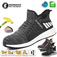 Hafif çelik ayak emniyet iş ayakkabısı ile çelik burun erkekler yıkılmaz ölümsüz Ryder ayakkabı nefes tenis Sneakers