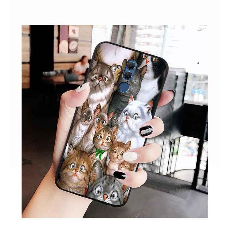 Babaite الكرتون القط وجه الكثير كومة من القطط الفن حافظة هاتف لهواوي ماتي 10 20 لايت 20X Mate20 10 برو Mate9 Nova3 3i