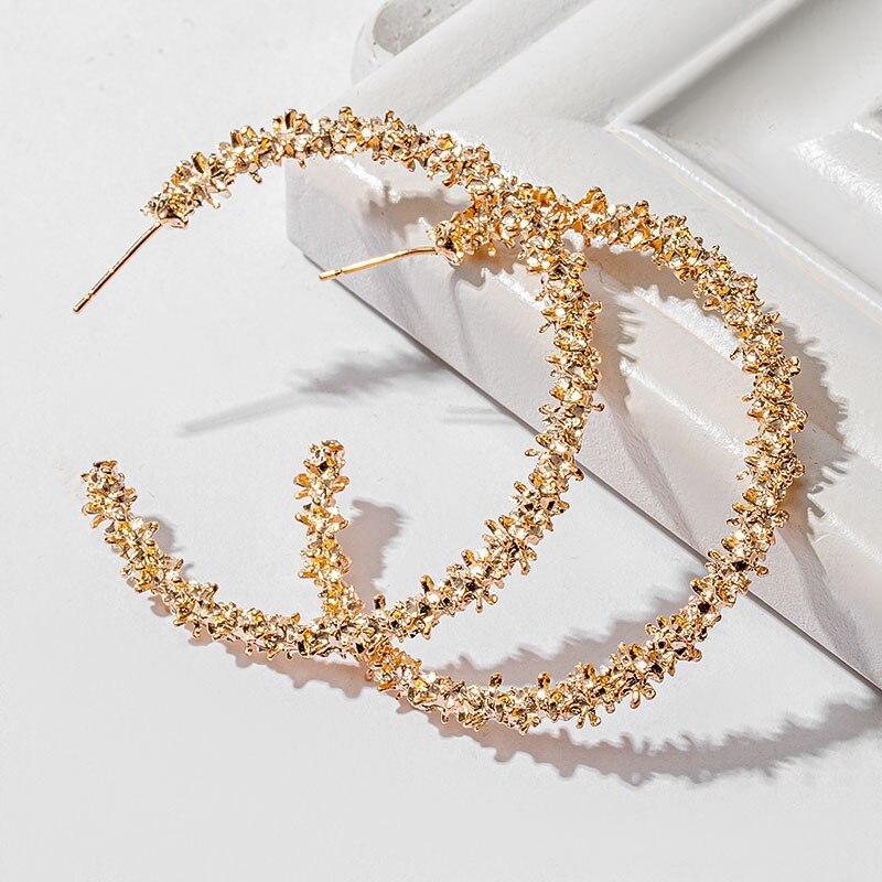 Женские винтажные круглые серьги-кольца, Необычные очаровательные украшения в стиле ретро, 2020
