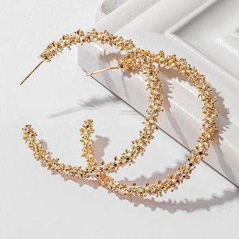 2020 Trend Vintage Hoop okrągłe kolczyki dla kobiet w stylu Retro urok biżuterii kobiet niezwykłe kolczyki tanie i dobre opinie VCORM Ze stopu miedzi CN (pochodzenie) Archiwalne moda fashion Earrings kolczyki wiszące ROUND Metal Kobiety