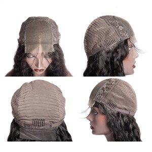 Image 4 - Lanqi, venta al por mayor, peluca con malla frontal con diadema, pelucas de cabello humano con encaje frontal brasileño para mujeres negras, peluca con cierre de encaje 4x4