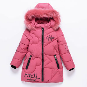 Image 3 - Girls Winter Jacket Childrens Thick Warm Coat Kids Hooded Coats Baby Thick Parka Bunny Decoration Winter Clothing  Outerwear