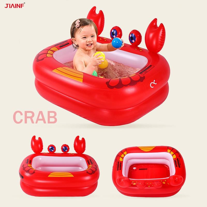 New Inflatable Baby Bathtub Bath Pool Newborn Portable Folding Tubs  Infant Bathing Duck Crab Pool Babies Shower Bathroom Tubs