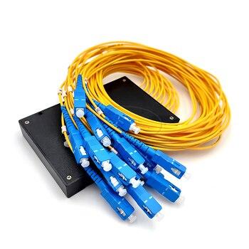 1x16 PLC Fiber Optical Cble Splitter Box Type 1x16 Cassette Fiber Cable Branching Device 1x16 2 0mm plc optical splitter sc apc 1x16 plc fiber optical splitter single mode