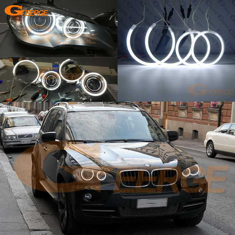 For BMW X5 E70 2007 2008 2009 2010 2011 2012 2013 Excellent Ultra Bright Illumination CCFL Angel Eyes Halo Rings