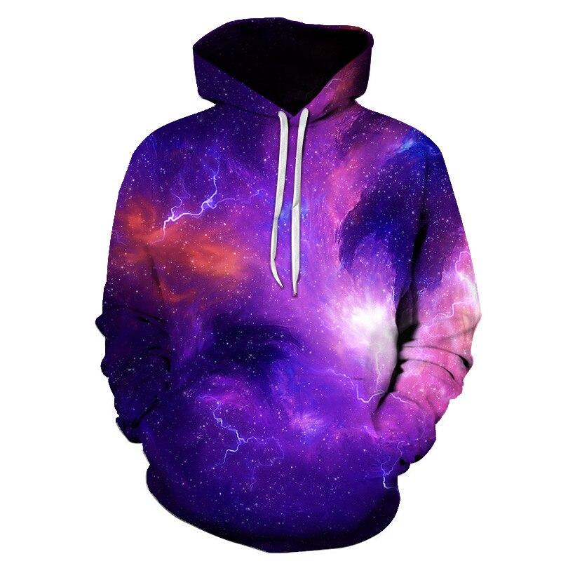 Space Galaxy Hoodies Men/Women Sweatshirt Hooded 3d Clothing Cap Hoody Print Starry Sky Asian Size 6XL