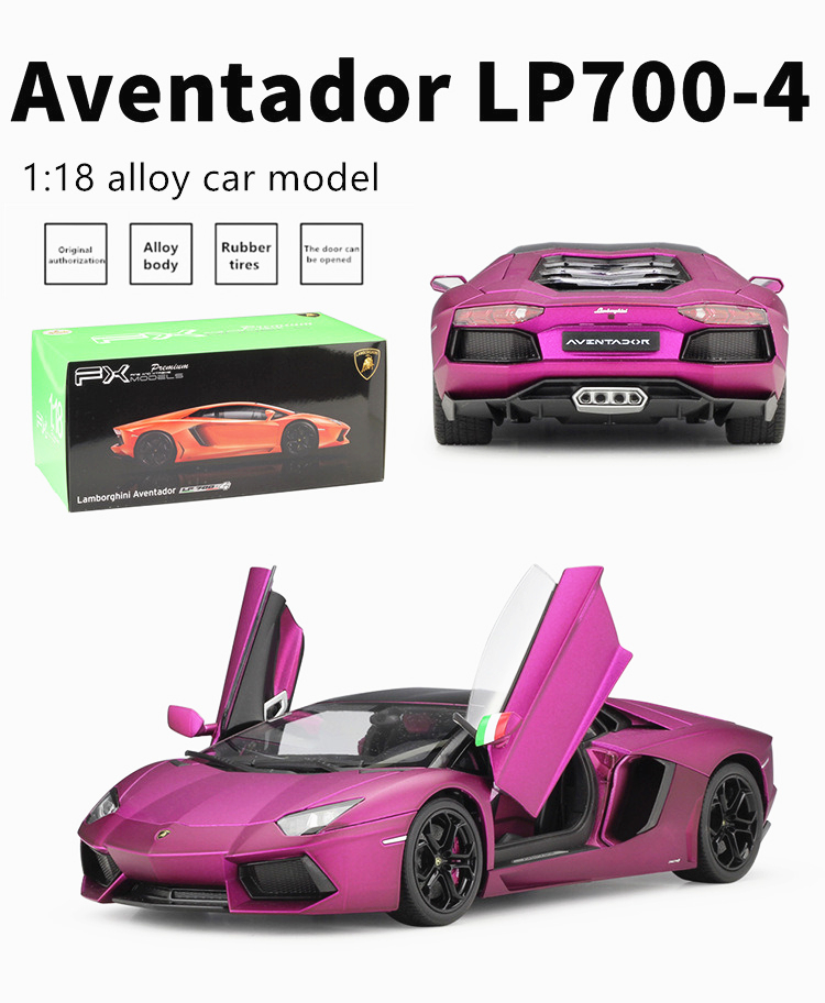 Details about  /WELLY 1:18 Lamborghini Aventador LP700-4 Alloy Retro Car Model Classic Car Model