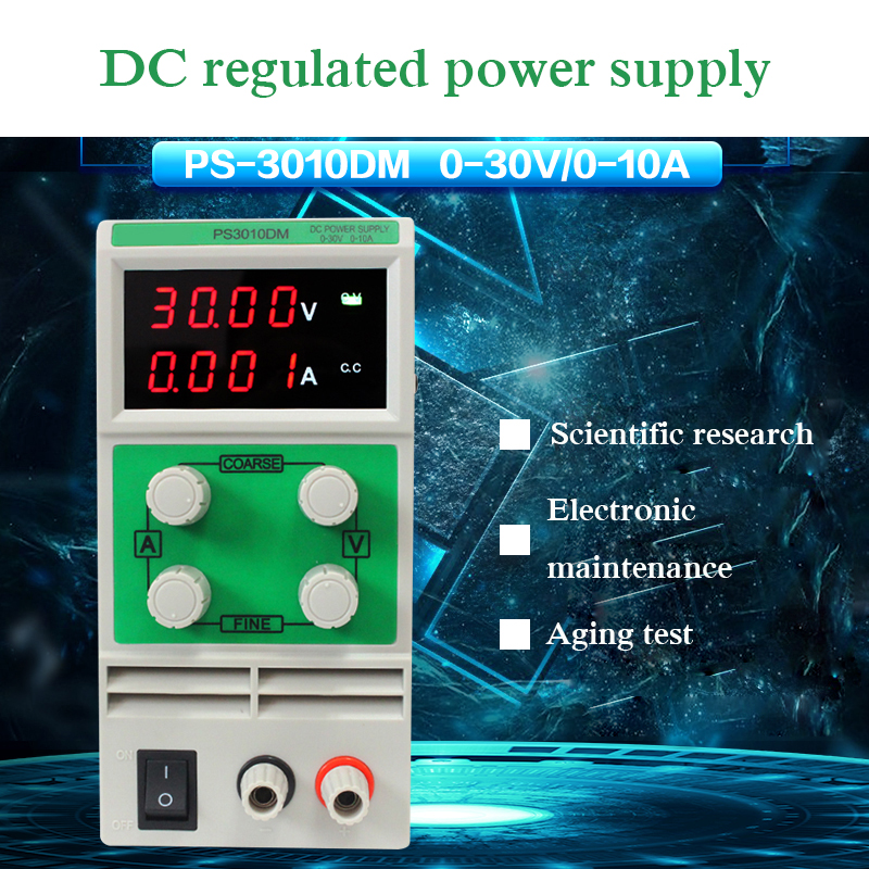PS3010DM Регулируемый Высокоточный источник питания постоянного тока 0-30 в 0-10 А переменного тока 220 В
