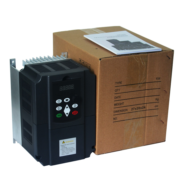 Frequenz Konverter Einstellbare Geschwindigkeit VFD Inverter 7,5 KW 10HP 220V 50/60HZ Ausgang für Motor Niedrigen Frequenz inverter