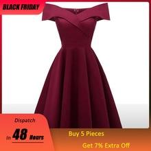Платье бордовое коктейльное платья открытое плечо короткие рукава выпускные знаменитости платья элегантное модное элегантное бальное платье
