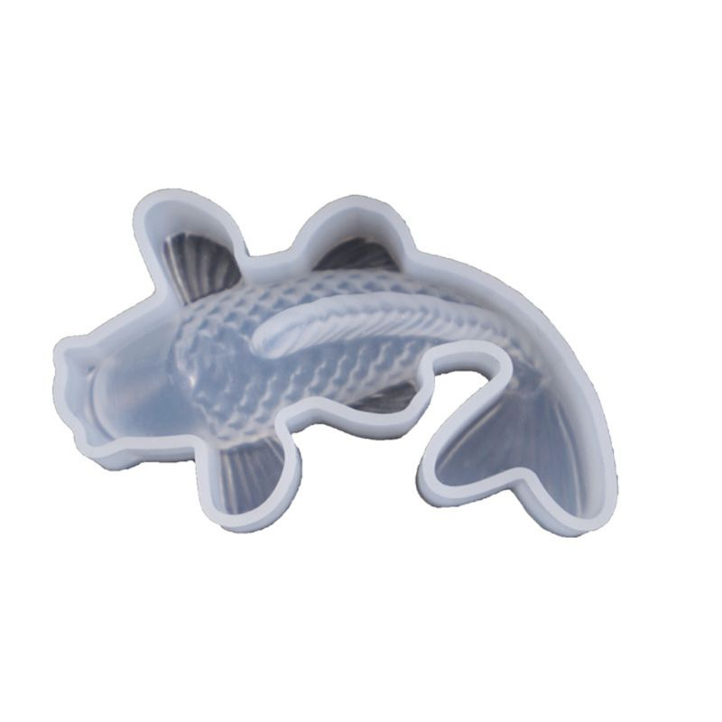 ANGELADY Transparent Silicone Mold Decorative Resin Mould Koi Lucky Fish Shaped DIY Crafts Pendant Making Tools