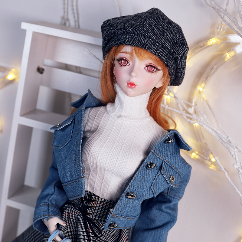 Dbs 1/3 bjd brinquedo mecânico corpo comum incluindo cabelo roupas sapatos headdress cabeça aberta boneca 62cm