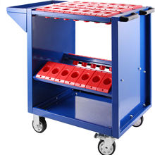 Tool Cart Heavy-Duty Bt40-Service with Wheels 40-Taper-Tool-Holder CAT40 35-Capacity