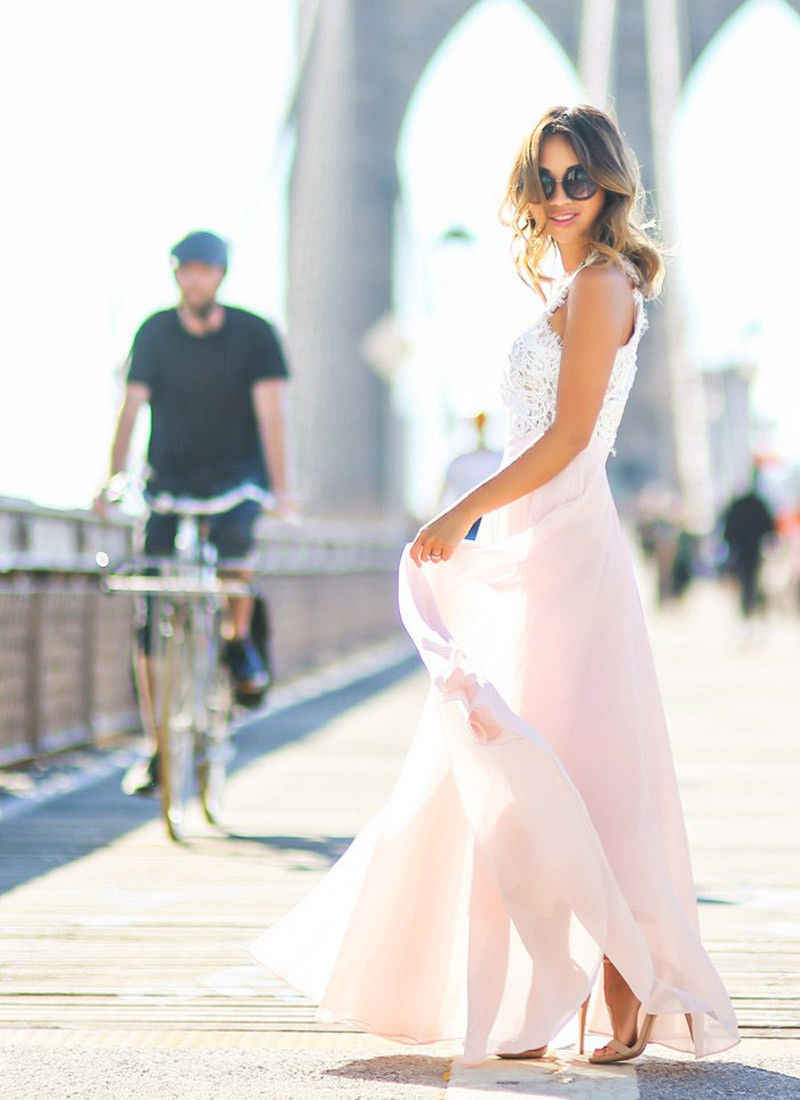 Hot Bán Sexy Vestidos Đầm Dự Tiệc Hồng Nude Bãi Biển Mùa Hè Đời Boho Maxi Dài Rỗng Ra Miếng Dán Cường Lực Sundress Plus Kích Thước