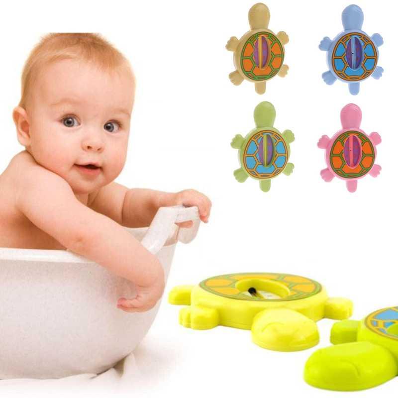 Bayi Bayi Bak Mandi Air Suhu Tester Hewan Gambar Kartun Kura-kura Thermometer Funko Pop Mainan Bsn