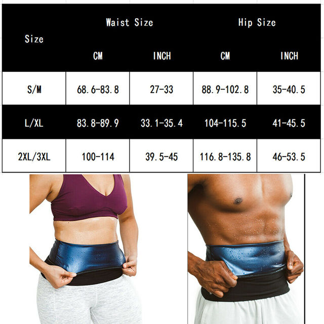 Men sweat waist band Waist Trimmer Belt Weight Loss sweat sauna shaper body shaper Wrap Fat Tummy Stomach Strap for women slim 1