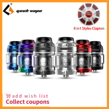 Original Geekvape Zeus dual RTA  Dual coil version 5.5ml zeus atomizer leak proof top airflow system E Cigarette