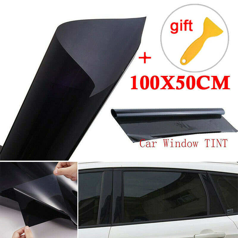 50*100cm Car Home Window Glass Tint Tinting Film Roll With Scraper For Side Window Anti UV Film Transmittance 5%