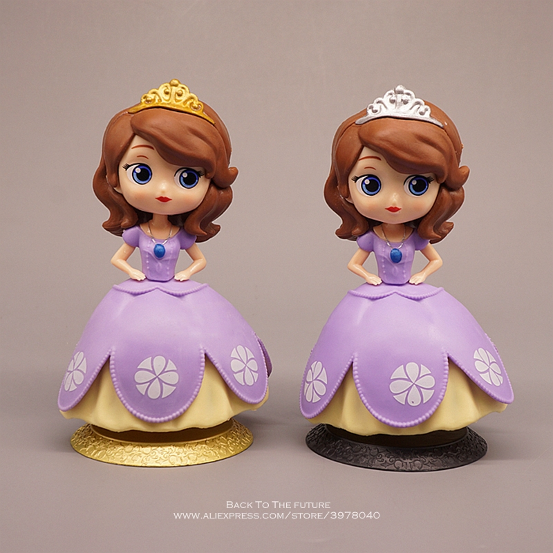 Disney Sofia Princess Cartoon 15cm Mini Doll Action Figure Anime Mini Collection Figurine Toy Model For Children Gift